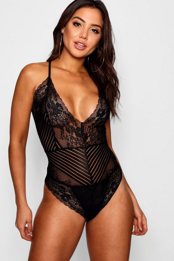 Bronte Strappy Scallop Edge Bodysuit