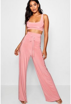 Coral Super High Waist Pants Co-Ord