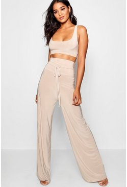 Womens Stone Super High Waist Pants Co-Ord