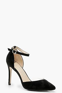 Wide Fit Clear Pointed Court Shoes