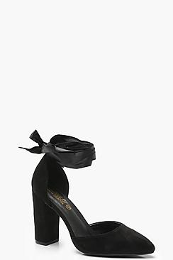 Wide Fit Wrap Pointed Court Shoes