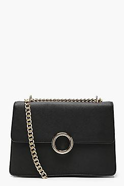 Ring Detail PU Cross Body