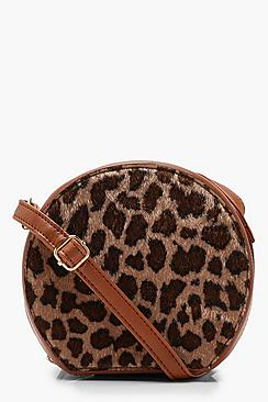 Faux Leopard Round Cross Body