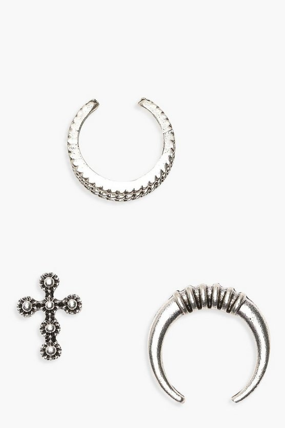 Georgia Cross And Horn Earring