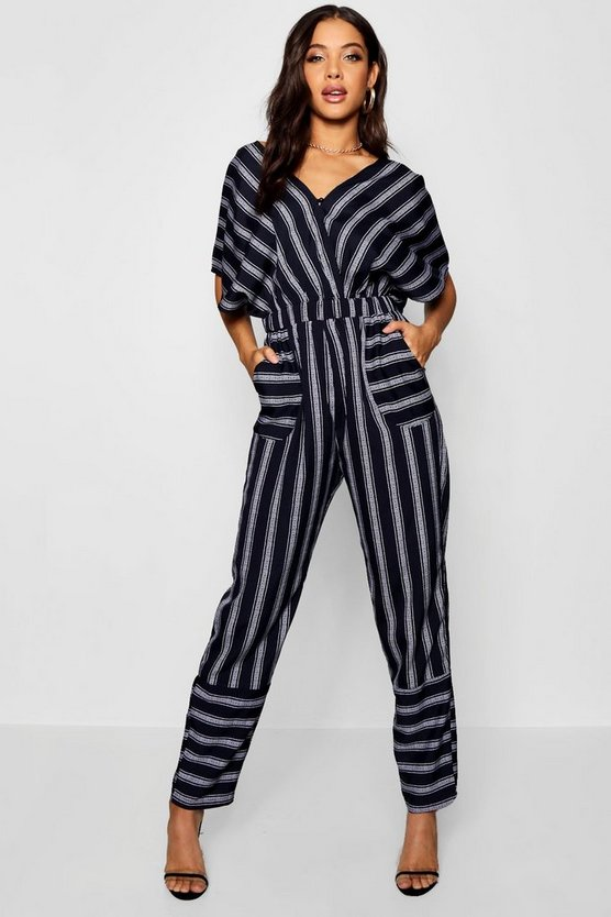 Lily Kimono Sleeve Striped Jumpsuit