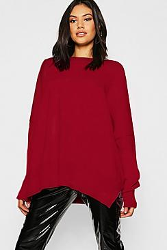 Oversized Balloon Sleeve Knitted Sweater