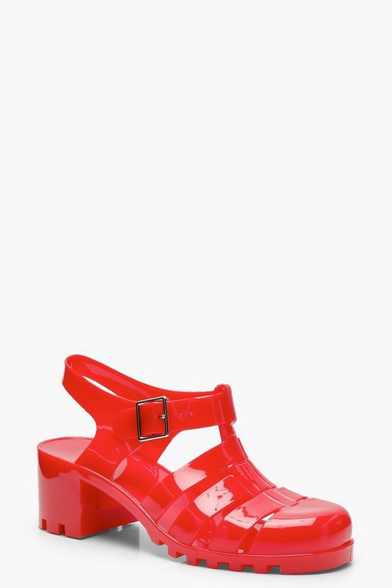 Heeled Jelly Sandals