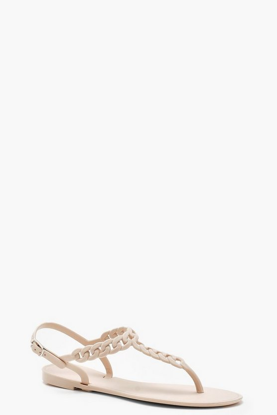 Toe Post Chain Detail Sandals