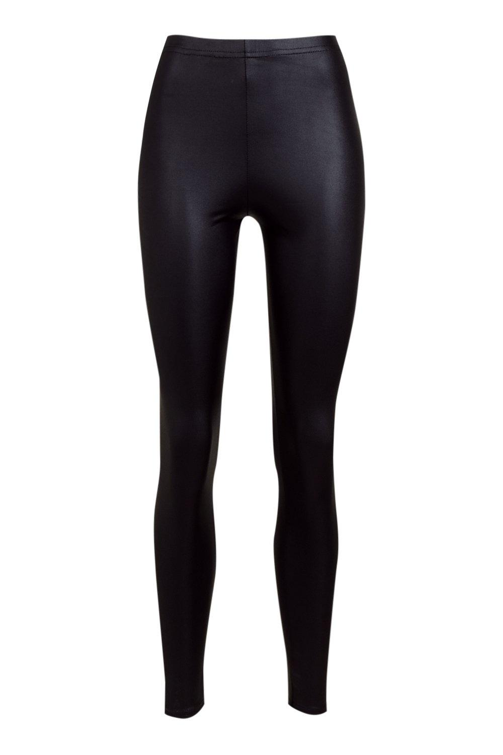 Look Leggings black Back Zip Leather SqROwxEt