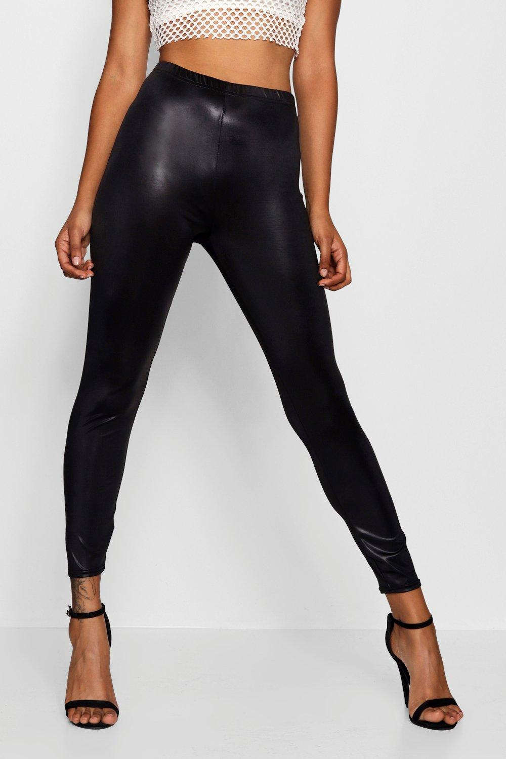 Look black Back Leather Zip Leggings IX8wZnUqE