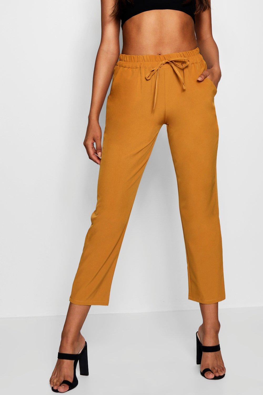 holgados Pantalones tejidos tejidos Pantalones holgados mostaza mostaza nUnxq0Wv