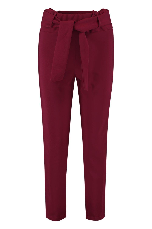 High Slimline Tessa Trousers berry Woven Waist gqvdfH