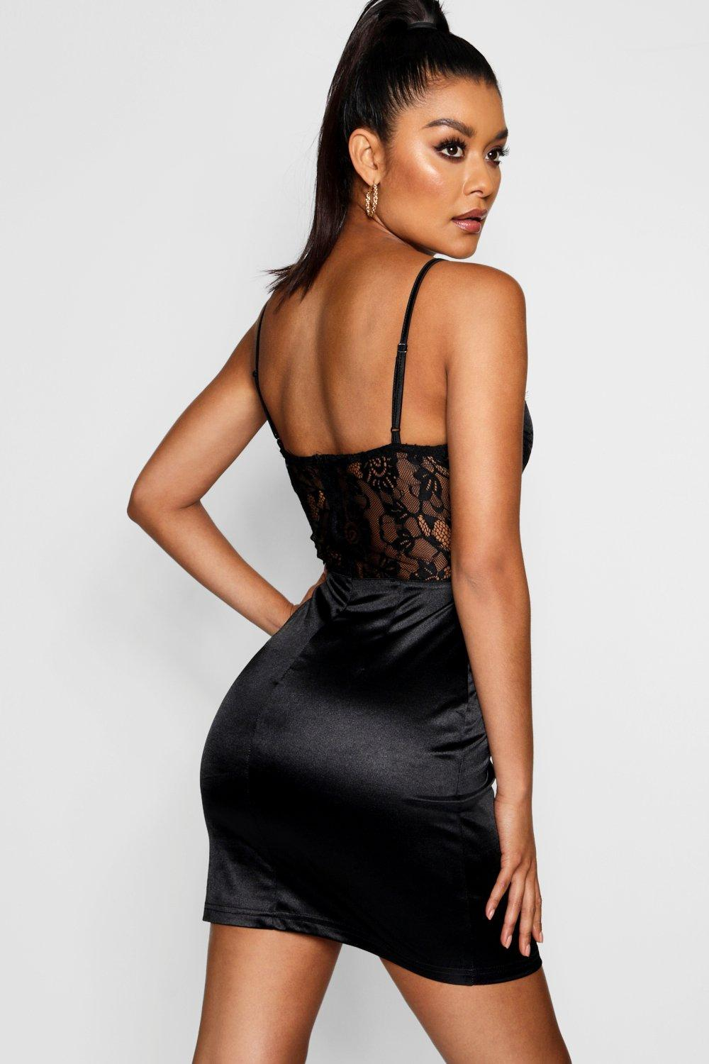 Lace Satin Satin and Dress and Bodycon R11tq