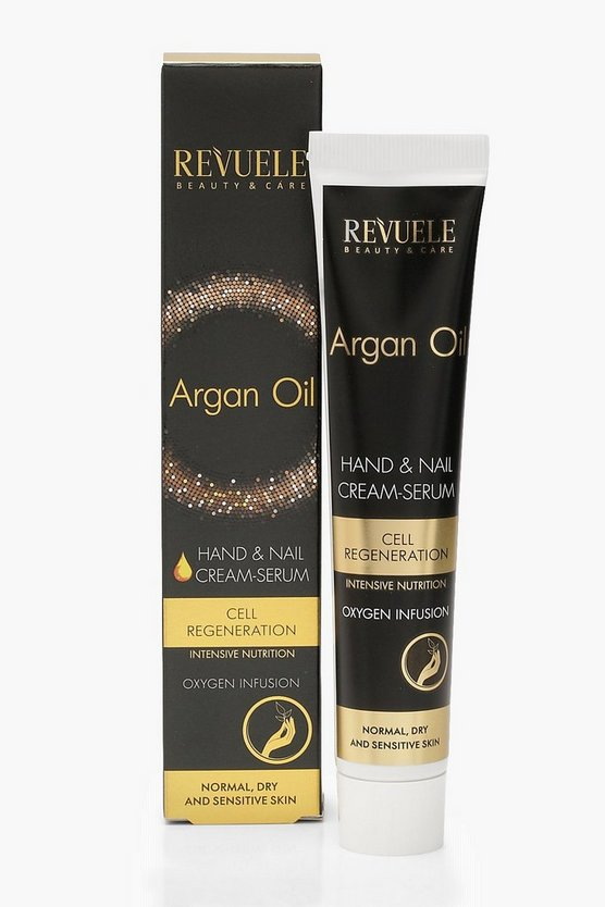 Womens Black Argan Oil Hand & Nail Cream Serum