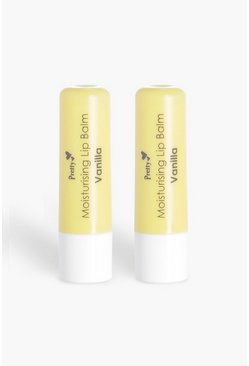 Womens White Pretty Vanilla 2 Pack Moisturising Lip Balms