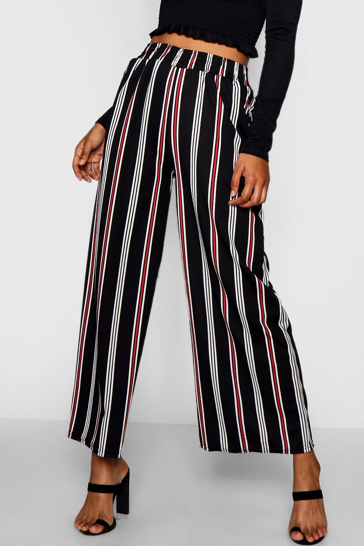 Katrina Wide black Stripe Leg Trouser 5x8XxrT