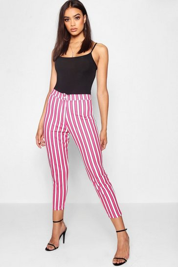 Womens Stripe Tapered Trouser