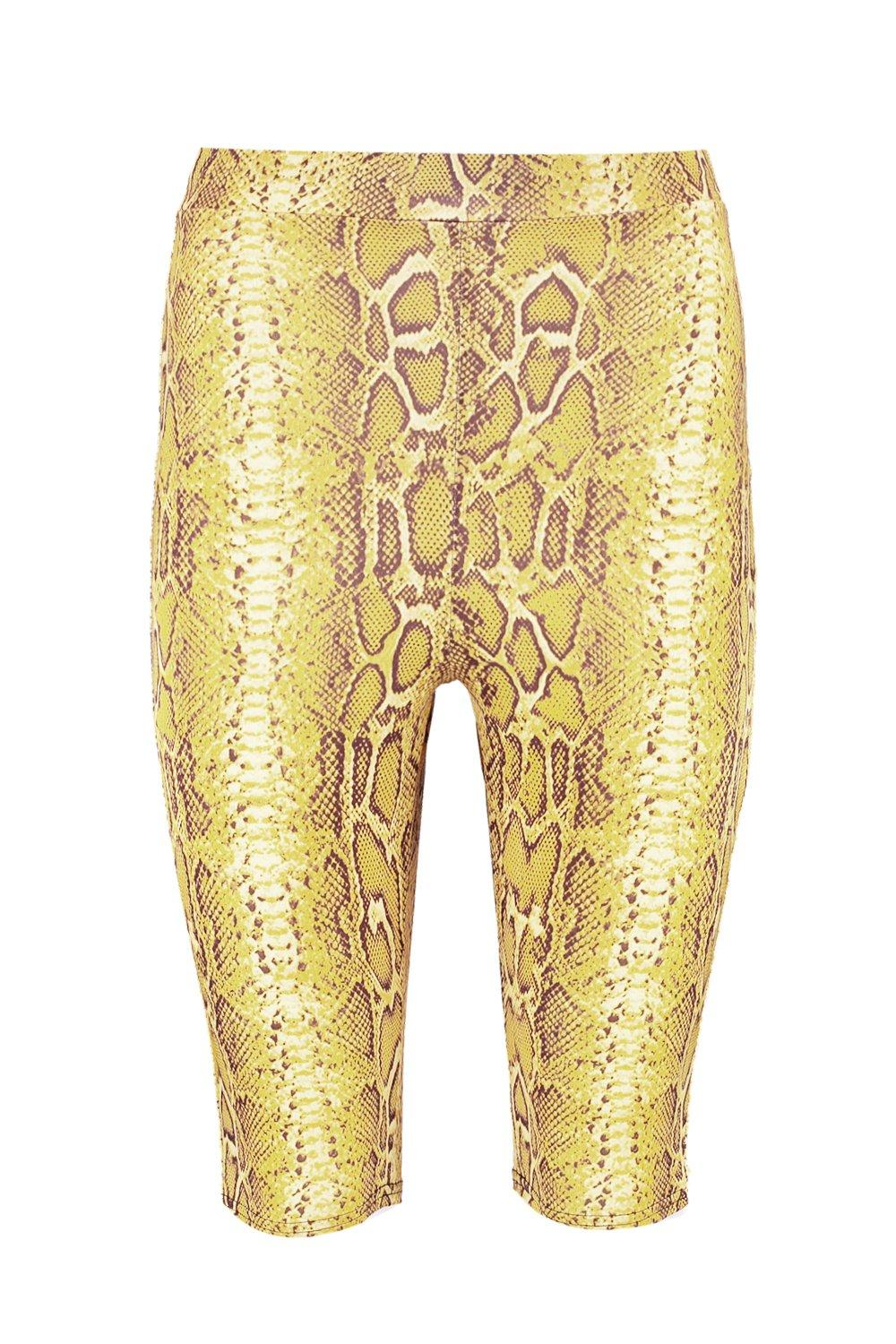 yellow Snake Shorts Print Cycling Slinky nrSqA0SIxC