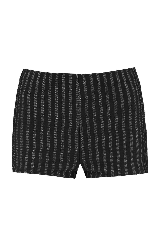 Hotpants black Stripe black Glitter Glitter Stripe Glitter Hotpants Stripe Hotpants black fwXUqfr