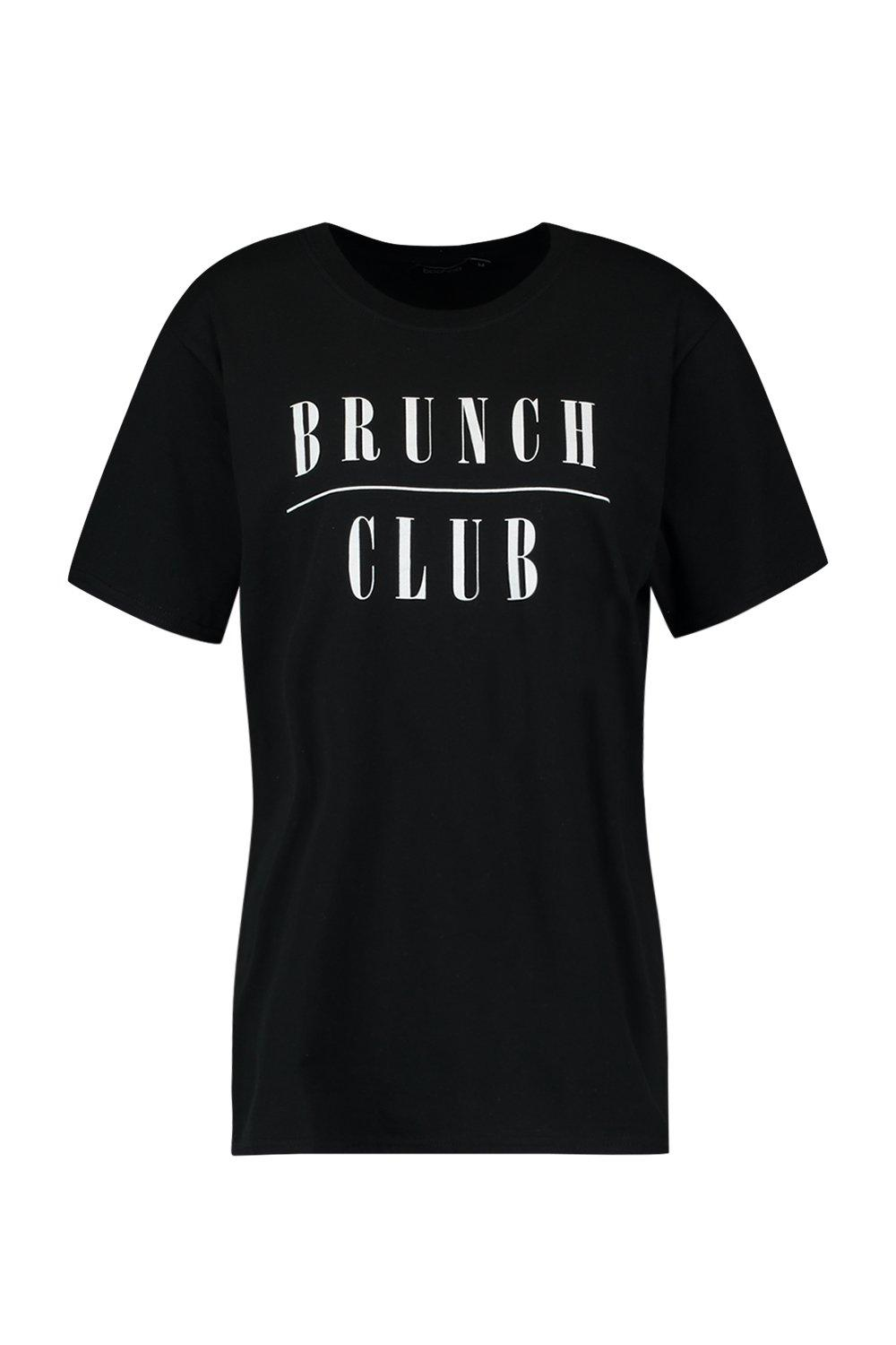 Shirt Brunch Slogan black Club T tRZqwcRC