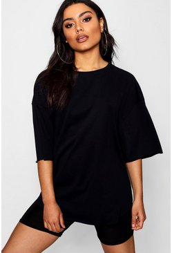Womens Black Supersoft Oversized T-Shirt