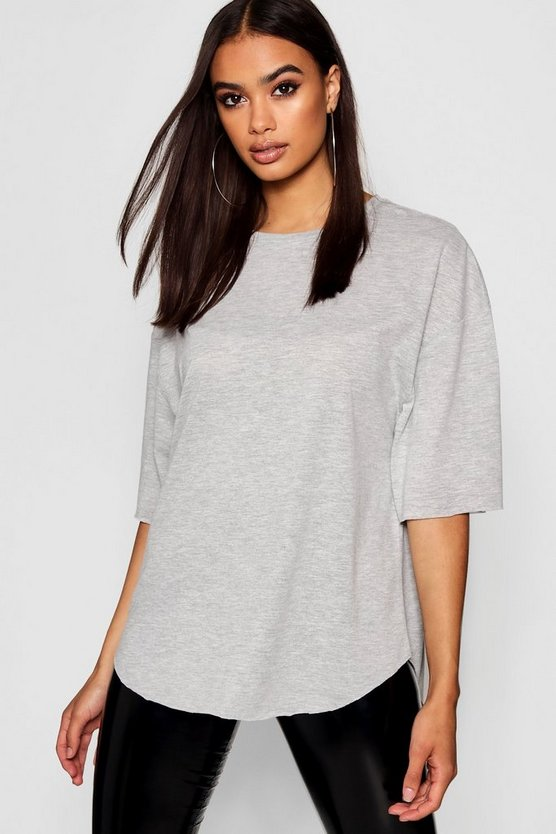 Womens Grey Supersoft Oversized T-Shirt