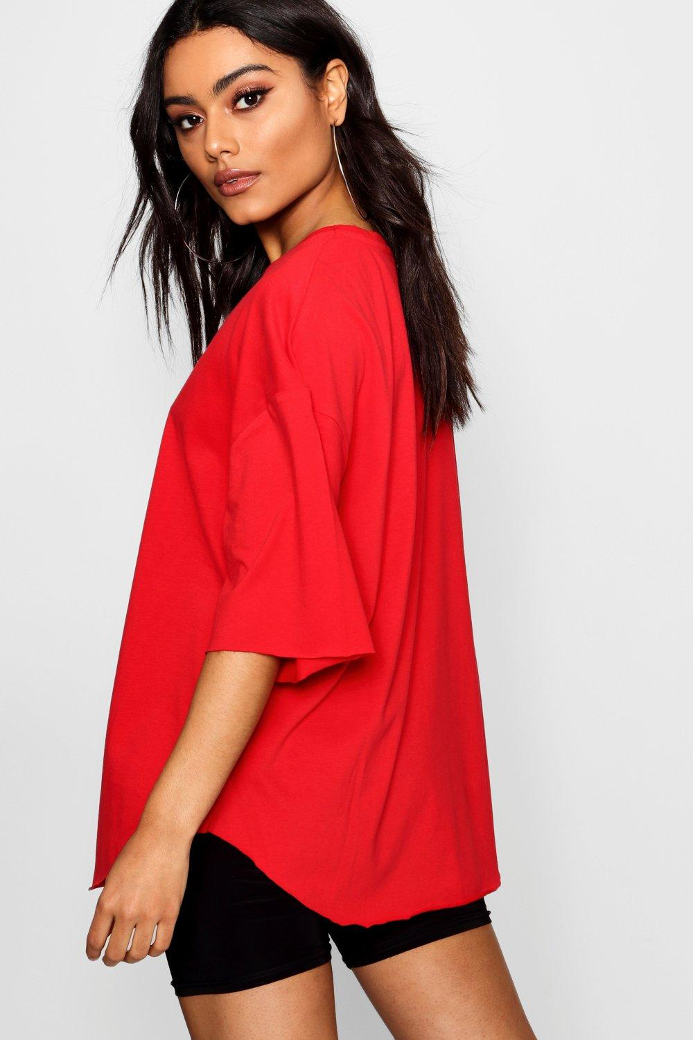 Supersoft Oversized red Oversized T Shirt T T red Supersoft Oversized Supersoft Supersoft red Shirt Oversized Shirt T nOIap5Cq