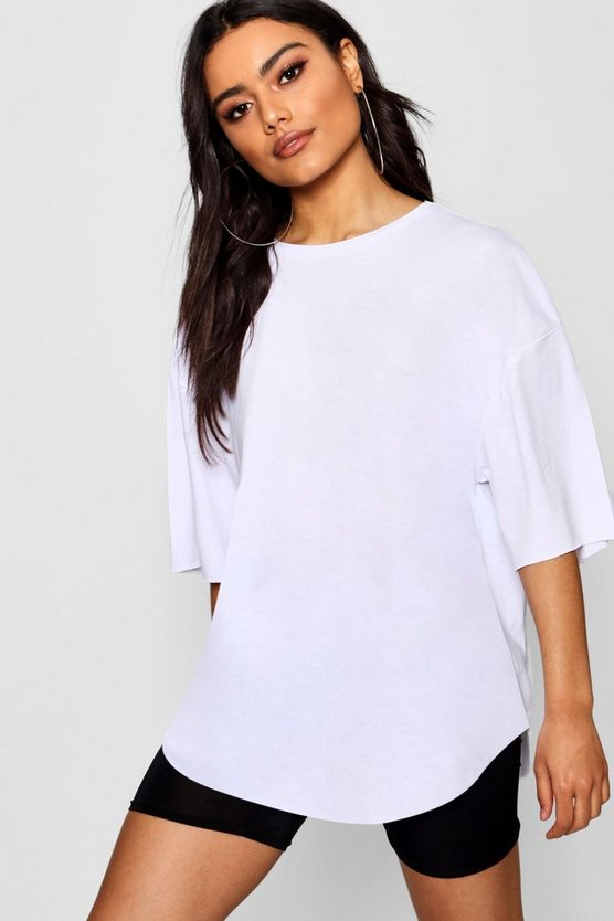 Womens White Supersoft Oversized T-Shirt