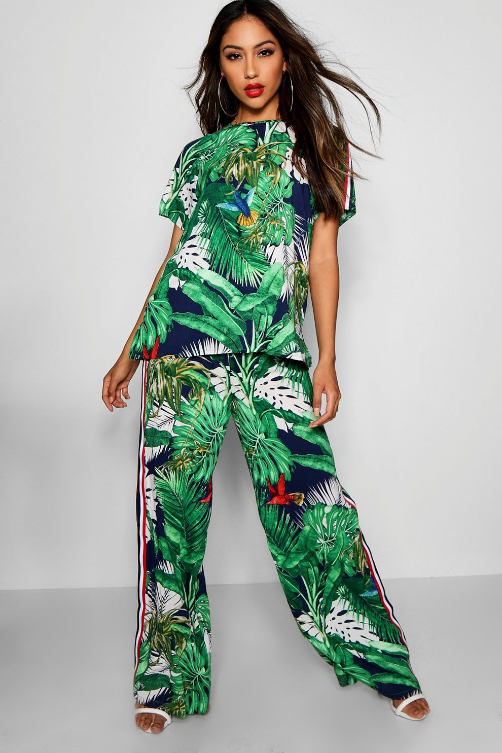 Penny Palm Print Top & Trouser Co-ord