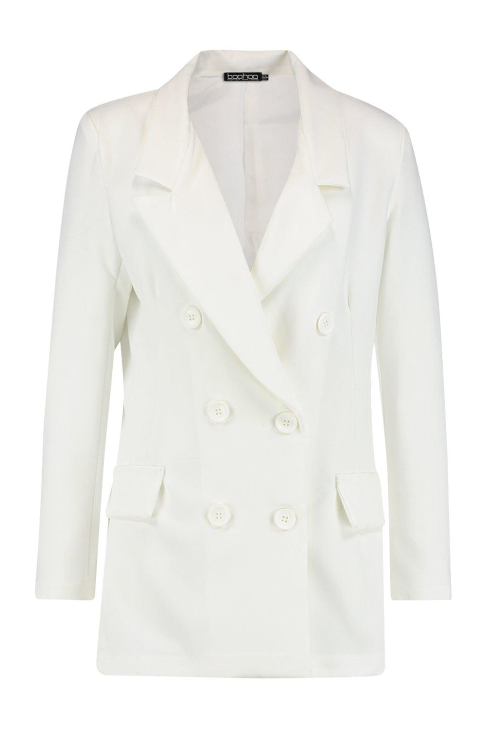 Contrast Blazer white with Breasted Button Double qAT8wT