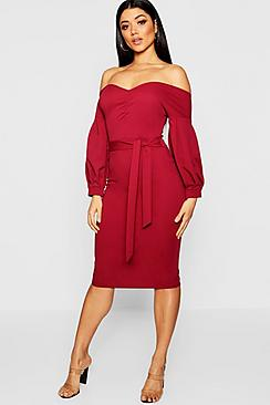 Florence Off the Shoulder Midi Dress