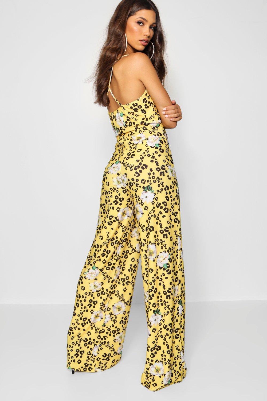 yellow Leopard Floral ord Co Trouser Bralet amp; qHrZ6q