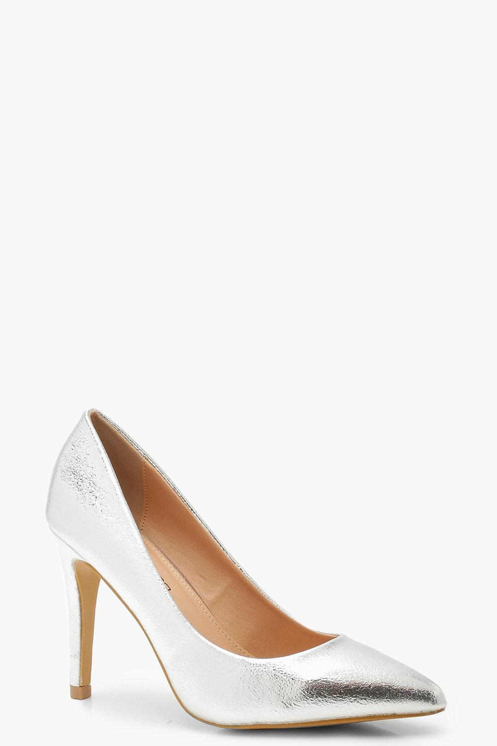 599bd681c7d Extra Wide Fit Pointed Court Shoes | Boohoo