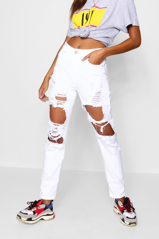 Waist High Sophie Jeans Mom Distressed wRzaaWxX5q