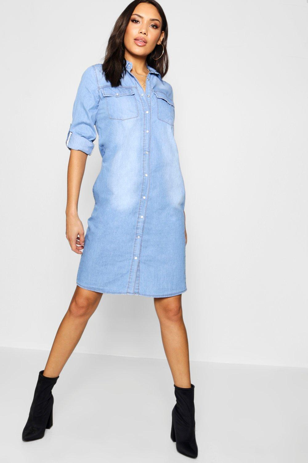 adf7d96d0e Western Denim Midi Dress. Hover to zoom