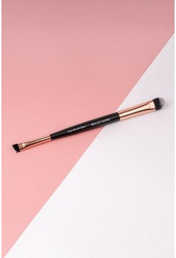 Brushworks Double Ended Eye Brush, Rose gold, MUJER