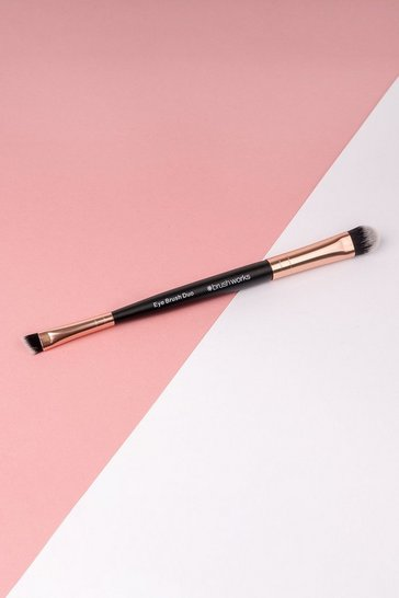 Womens Rose gold Brushworks Double Ended Eye Brush
