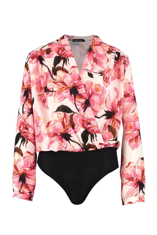 Annie Wrap Body Floral pink Detail Front Seam AqArzw