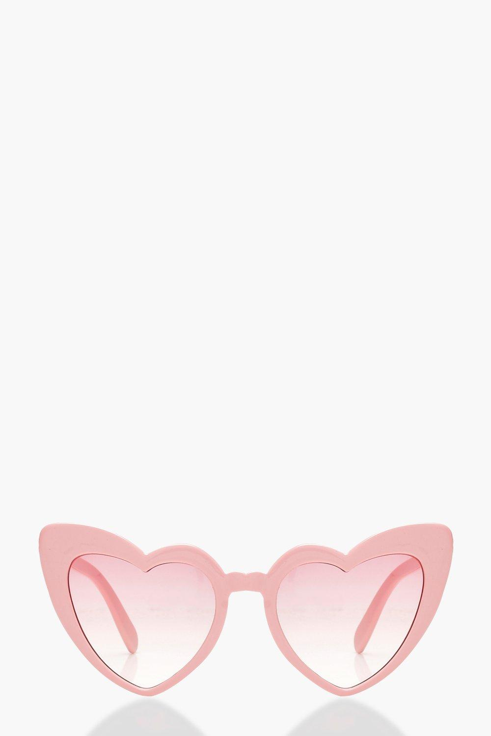 84460f22bb2 Oversized Pink Heart Cat Eye Sunglasses. Hover to zoom