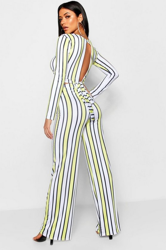 Natalie Stripe Open Back Trouser Co-ord