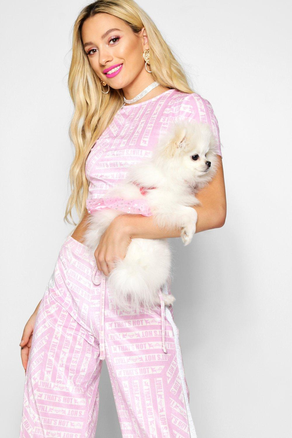 Boohoo-Paris-Hilton-Printed-Velour-Top