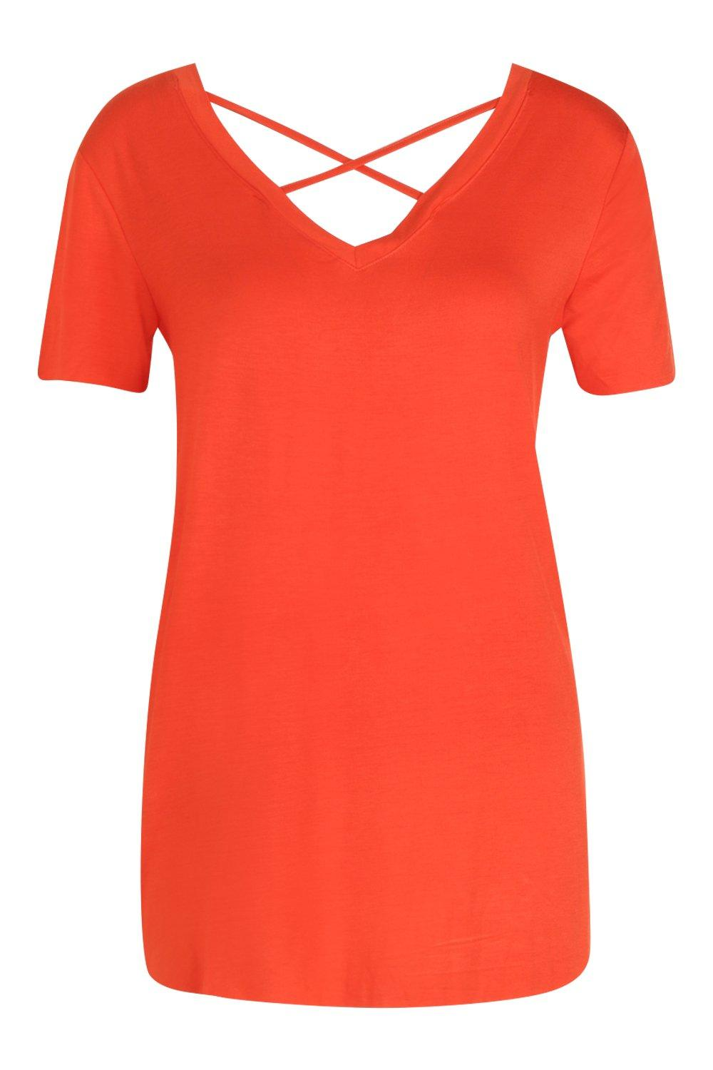 T red Cage Strap Cross Shirt xvEqwT084
