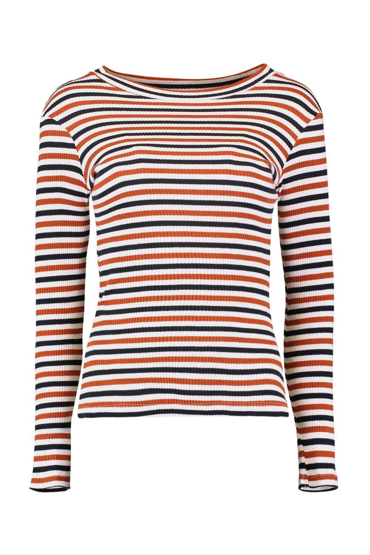 Stripe Stripe Long Shirt Long Sleeve T xr4rwqYd