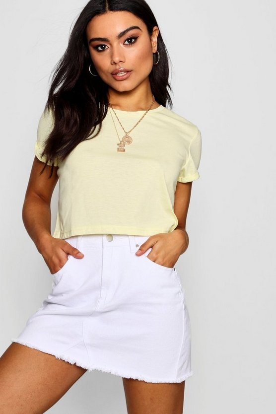 Cropped Crew T-Shirt