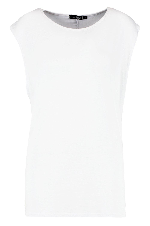 extra blanco tirantes grande de básica Camiseta zxE0pq4TwX