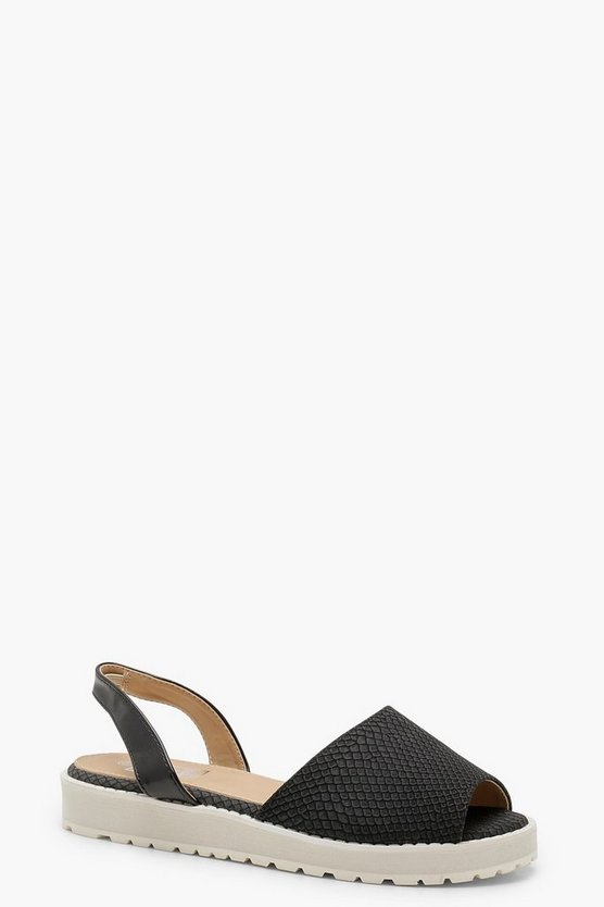 Peeptoe Sling Back Cleated Sandals