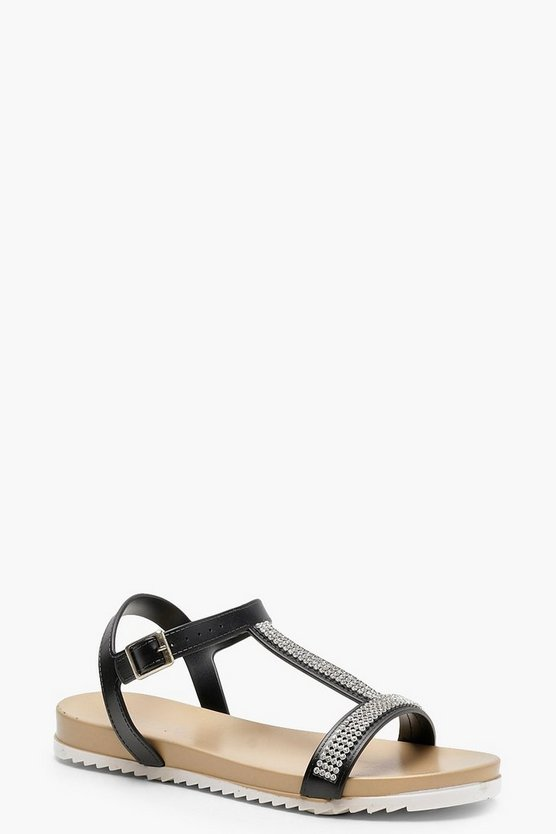 Diamante T-Bar Sandals