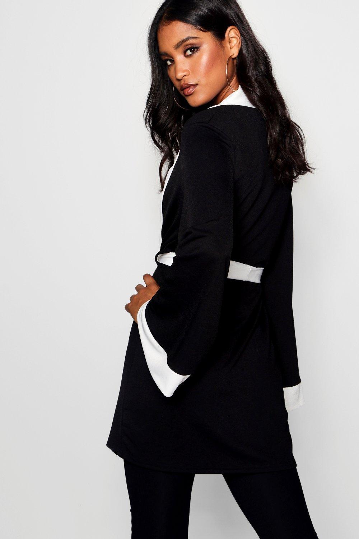 en Beth Kimono cinturón y con contraste blanco adorno qpzqA