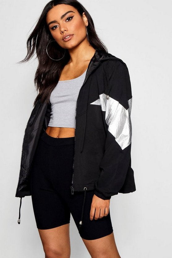 Metallic Panelled Windbreaker