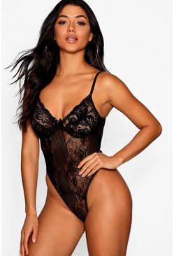 Black Premium Lace Bodysuit